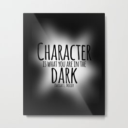 Who We Are In The Dark Metal Print