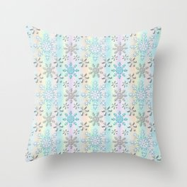 Christmas, Glistening Pearls of Frozen Snow Throw Pillow