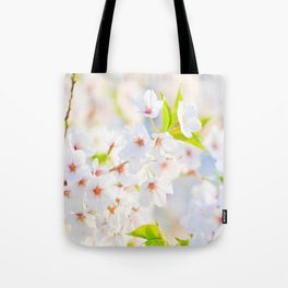 Beautiful White Blossoms In The Spring Sunlight Tote Bag