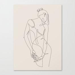 ligature - one line art - pastel Canvas Print