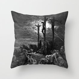 Crucifixiondarkness - Dore Throw Pillow