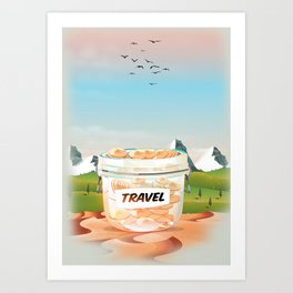 Travel Jar Art Print