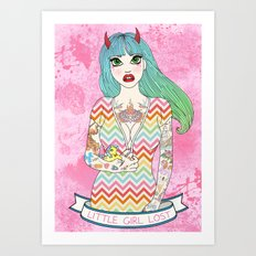 Little Girl Lost Art Print