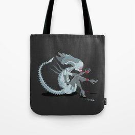 Alien Queen Pin-Up Tote Bag