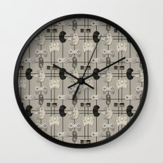 Paper Cut-Out Video Game Controllers Wall Clock