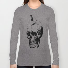 The Skull of Phineas Gage Vintage Illustration Long Sleeve T-shirt