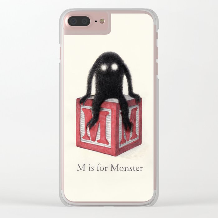 M is for Monster Clear iPhone Case