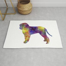 Romagna Water Dog in watercolor Rug