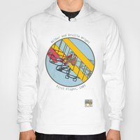 aviation Hoodies featuring Wilbur and Orville Wright, 1903 by Magnetic Boys