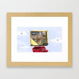 Mario never knew Framed Art Print
