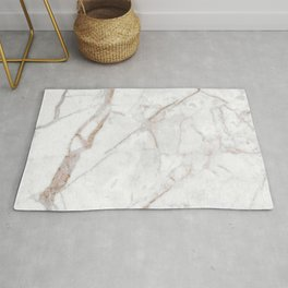 White faux marble a rose-gold accent Rug