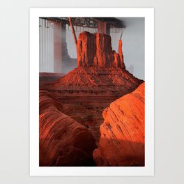 Red monuments Art Print