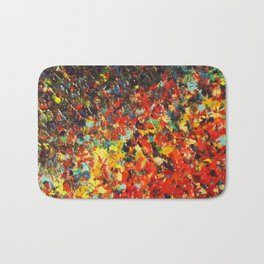 END OF THE RAINBOW - Bold Multicolor Abstract Colorful Nature Inspired Sunrise Sunset Ocean Theme Bath Mat