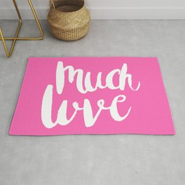 Much love - Pink brush lettering Rug