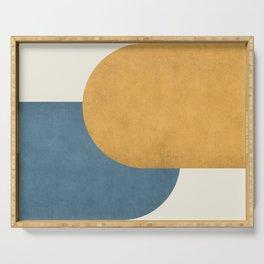 Halfmoon Colorblock - Gold Blue Serving Tray