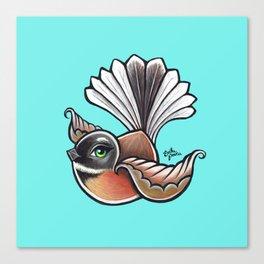 Fantail - Aqua Canvas Print