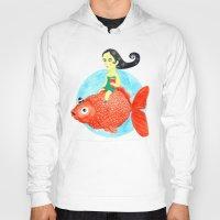 fish Hoodies featuring Fish by gunberk