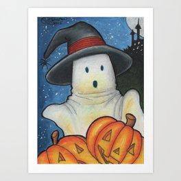Spooky Pumpkins Art Print