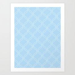 Double Helix - Light Blues #100 Art Print