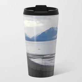Solitude :: A Lone Kayaker Travel Mug