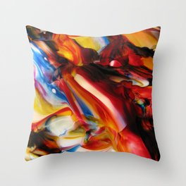 whirled piece Throw Pillow