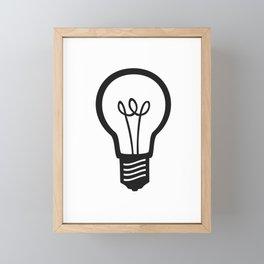 Simple Light Bulb Framed Mini Art Print