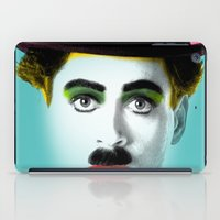 charlie chaplin iPad Cases featuring charlie chaplin by mark ashkenazi