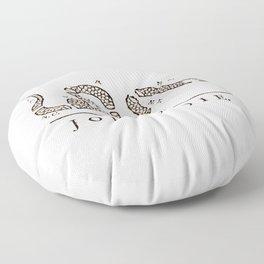 Join or Die Floor Pillow