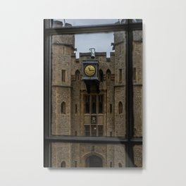 Clock on the Waterloo Block at Tower of London Home of the Crown Jewels Metal Print