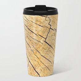 Cut Wood Trunk and Grain pattern Travel Mug