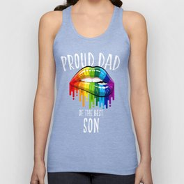 Proud LGBT Dad Perfect Christmas Gift Unisex Tank Top