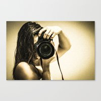 photographer Canvas Prints featuring photographer by Dayana Pessanha