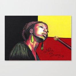 Nina Simone Painting Canvas Print