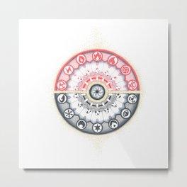 Pokeball Mandala Metal Print