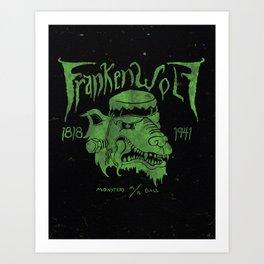 FrankenWolf Art Print
