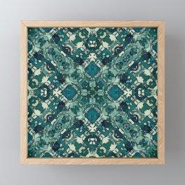 Celtic Green Garden Lattice Framed Mini Art Print