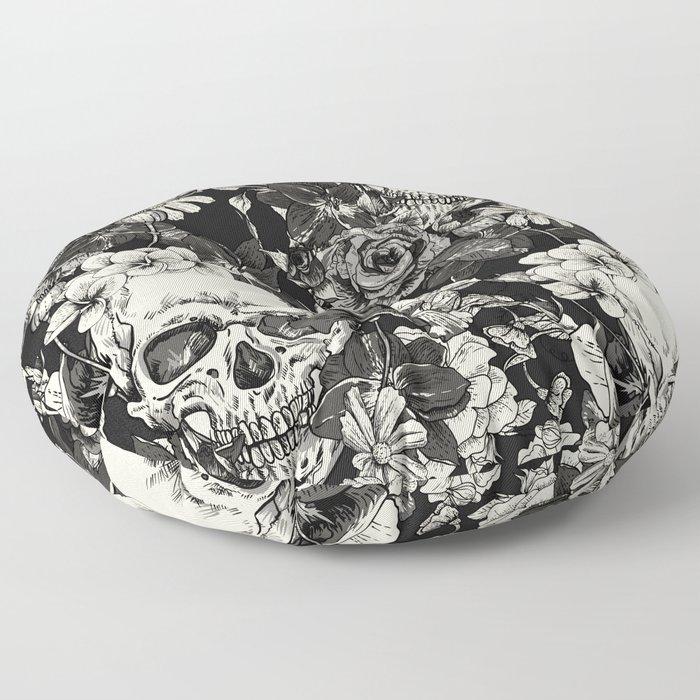 SKULLS HALLOWEEN SKULL Floor Pillow
