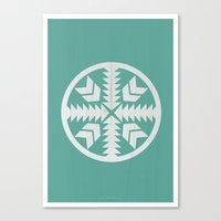 Aztec No. 4 Canvas Print