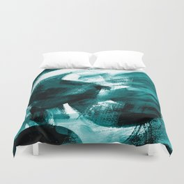 Abstract Artwork Petrol #1 Duvet Cover
