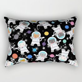 Astronaut Cats In Outer Space Pattern Rectangular Pillow