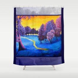 Fauvist Fantasy Shower Curtain