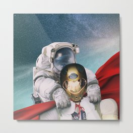 Super robonaut and his friend Metal Print