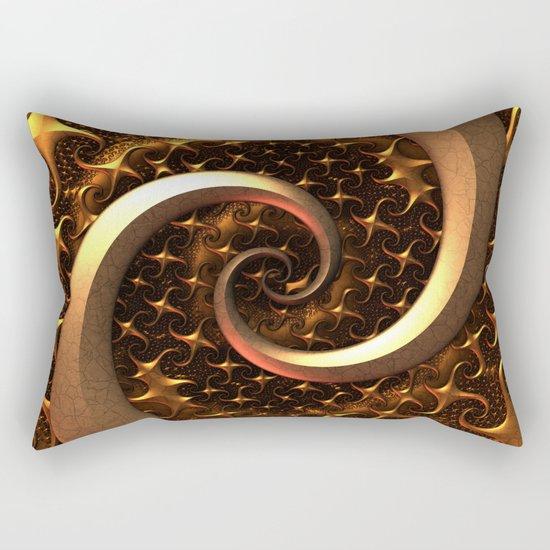 Golden Spirals Rectangular Pillow