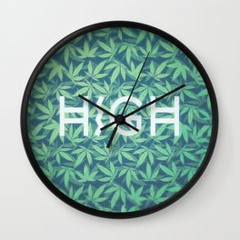 HIGH TYPO! Cannabis / Hemp / 420 / Marijuana  - Pattern Wall Clock