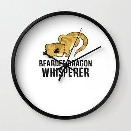 Bearded Dragon Whisperer Wall Clock