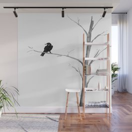 Raven in a Tree Wall Mural