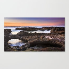 Yachats, Oregon Tide Pools at Sunset Canvas Print