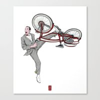 pee wee Canvas Prints featuring Pee Wee Herman #3 by Christian G. Marra