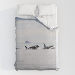 Whales Duvet Cover