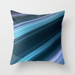 abstract rays  blue lines material design geometric shapes lollipop creative strips geometry blue ba Throw Pillow